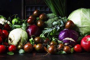 Summer mixed vegetables, healthy eat