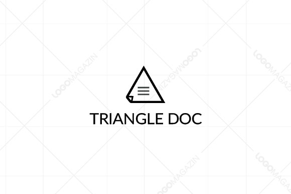 Triangle Document Logo Template in Logo Templates - product preview 1
