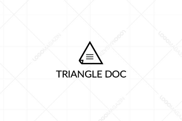 Triangle Document Logo Template