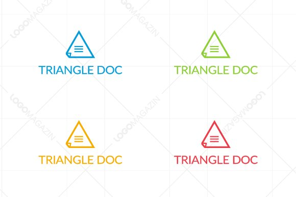 Triangle Document Logo Template in Logo Templates - product preview 3
