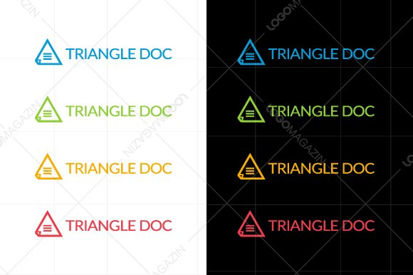 Triangle Document Logo Template in Logo Templates - product preview 4