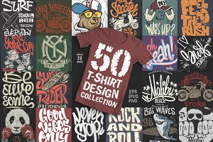 50 T-Shirt designs collection.Part2
