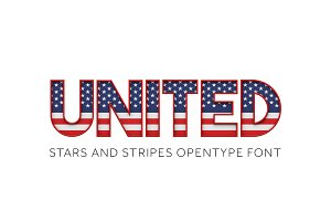 UNITED - STARS & STRIPES COLOR FONT