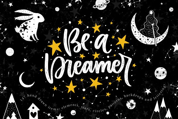 Be a Dreamer - Clipart collection