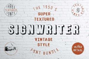 Sign Writer - textured font bundle