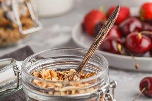 Homemade oat granola