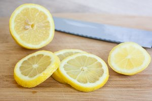 Fresh Sliced Lemons