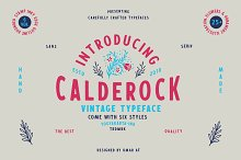 Calderock Typeface + Extras  by  in Sans Serif Fonts