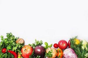 Food background, vegetarian concept,