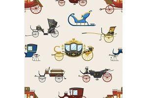 Carriage vector vintage transport