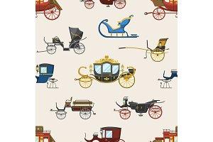 Carriage vector vintage transport