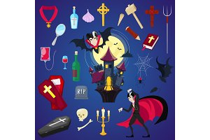 Vampire vector cartoon dracula
