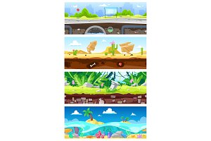 Game background vector cartoon
