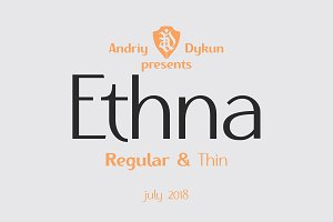 Ethna regular & thin