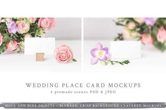 Free NEW! Wedding Place Card Mockups