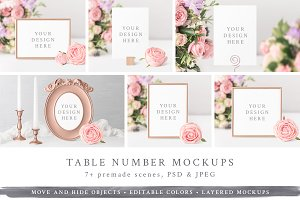 Wedding Table Number / Frame Mockups