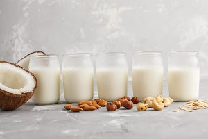 Vegan alternative nut milk