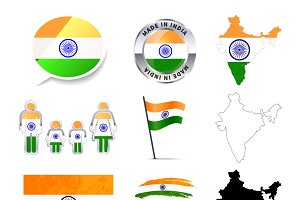 Set of India infographics elements