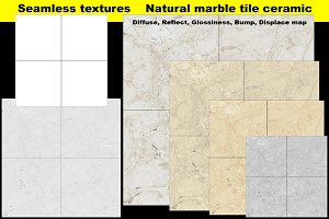 Tile seamless texture maps set