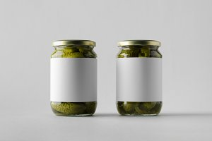 Pickled Cucumber Jar Mock-Up - Label