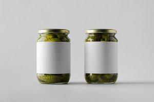 Pickled Cucumber Jar Mock-Up - Label