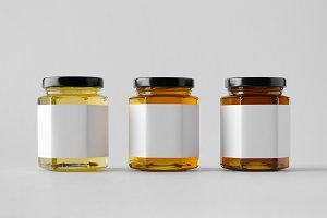 Honey Jar Mock-Up - Blank Label