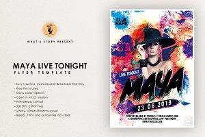 Maya live Tonight Flyer