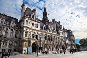 The Hotel de Ville, Paris, France