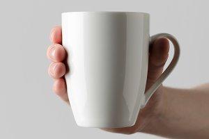 Mug Mock-Up - Hands Holding