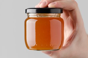 Apricot Jam Jar Mock-Up
