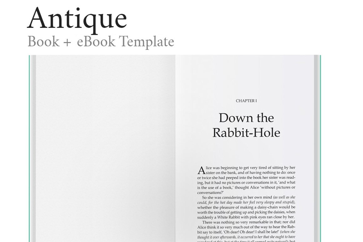 Antique - Ultimate Book Template ~ Magazine Templates ~ Creative Market
