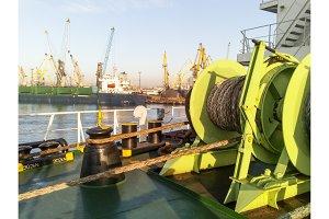 Babina with a sea mooring rope