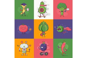 Quirky Veggie Characters