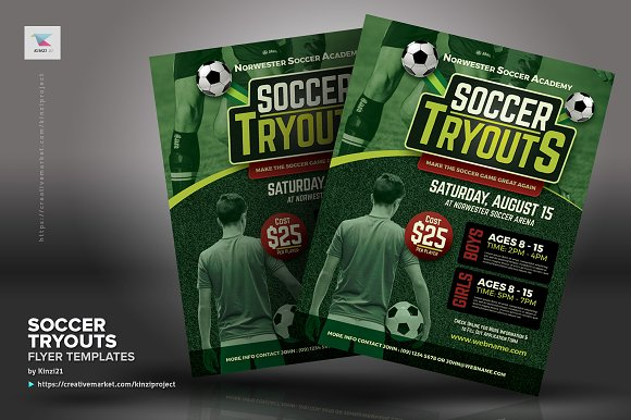 soccer tryouts flyer templates flyer templates creative daddy