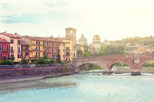 Verona old town view