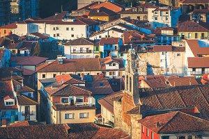 Aerial view of Laredo town, Spain