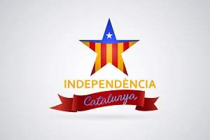 Independence Catalonia star