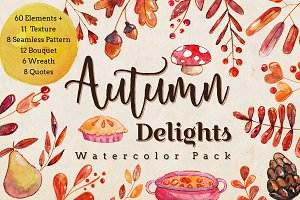 Autumn Delights Watercolor Pack