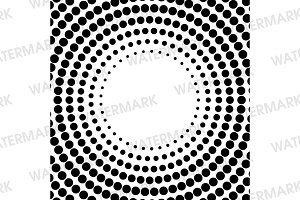 Black and White Circle Halftone