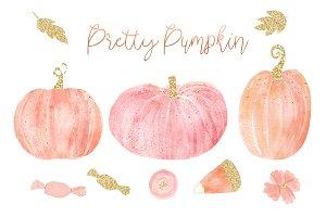 Pretty Pumpkin Autumn Clipart