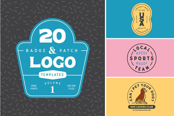 Logo Templates: Jeremy Anderson - 20 Badge Logo Templates Volume 1