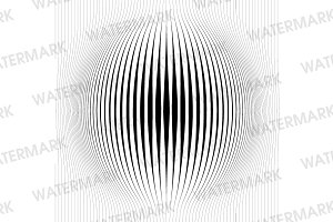 Vertical Line Fish Eye Halftone