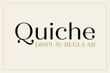 Quiche Display Regular Font by  in Sans Serif Fonts