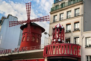 Moulin Rouge cabaret, Paris, France