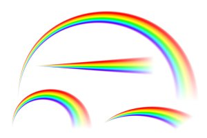 Transparent Abstract rainbow vector