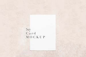 5x7 Mockup, Pink Pastel Paper Mockup