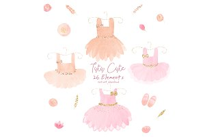 Tutu Cute Watercolor Ballet Clipart