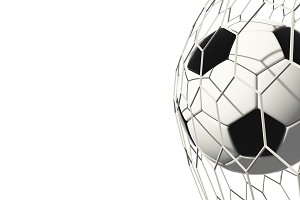 Soccer football isolated on white ba