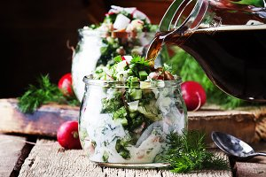 Okroshka - Traditional Russian cold