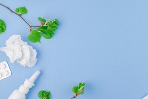 Concept of seasonal spring allergy